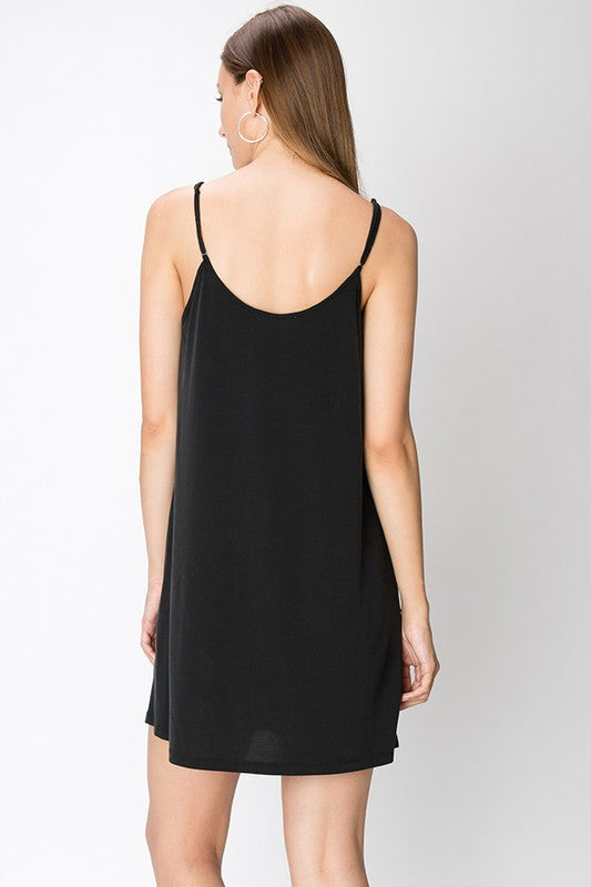 Happiest Hour Little Black Dress - Sweetly Striped