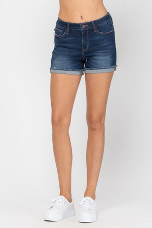 The Perfect Cuffed Hem Denim Shorts