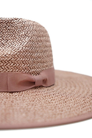 Emma Paper Straw Hat- Blush - Sweetly Striped