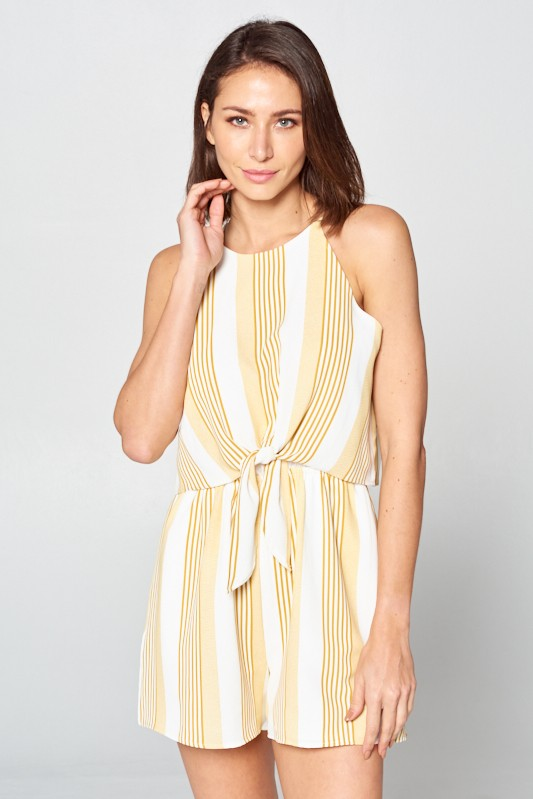 Boardwalk Stroll Striped Romper - Sweetly Striped