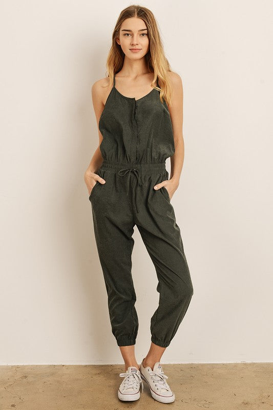 Closet Goals Jumpsuit - Sweetly Striped