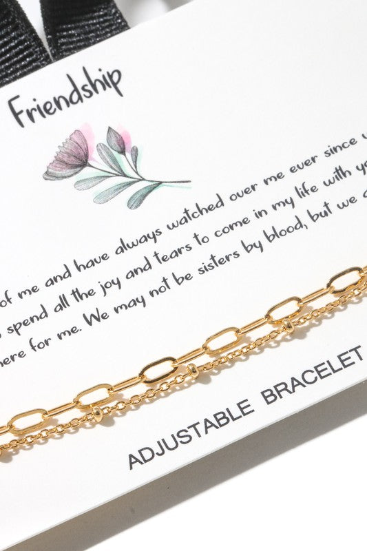 Friendship Chain Link Bracelet