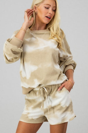 Tie Dye Vibes Set - Taupe - Sweetly Striped