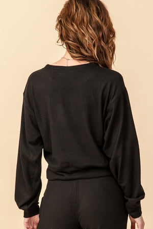 Cozy Black Dolman Top