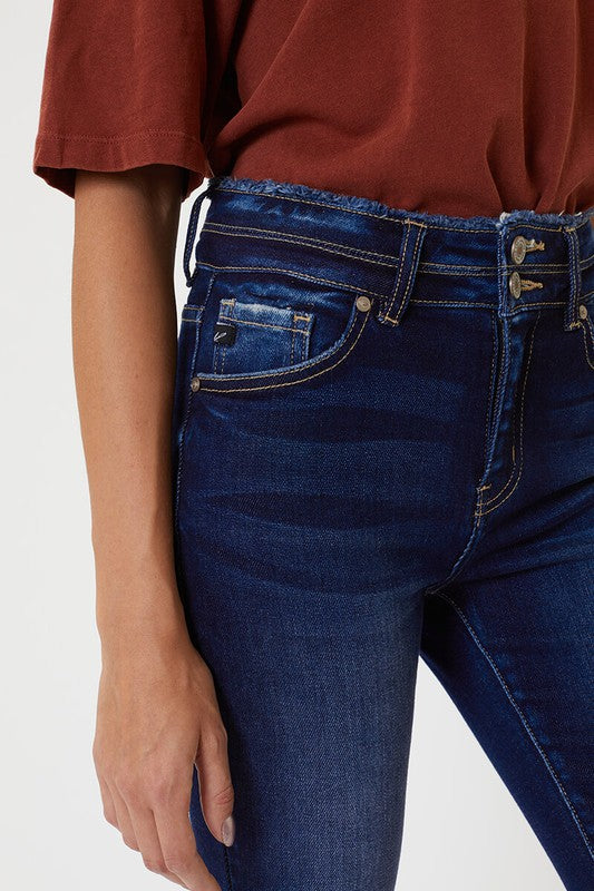 Freyed Waist-Band Skinny Denim