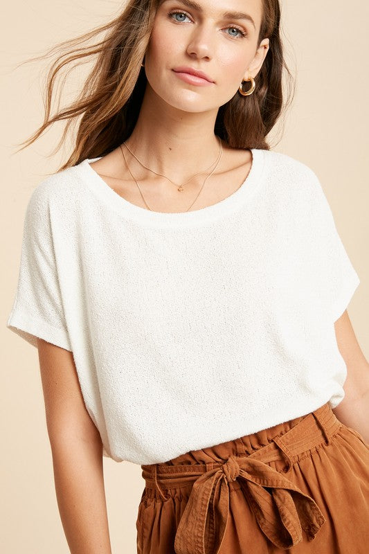 Chic Dolman Sleeve Knit Top