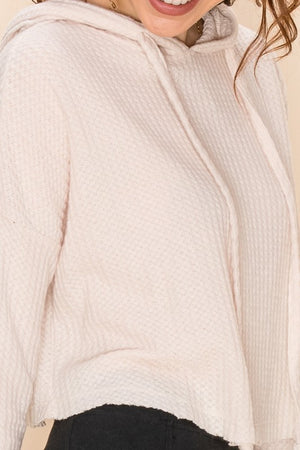 Cropped Hooded Thermal Top