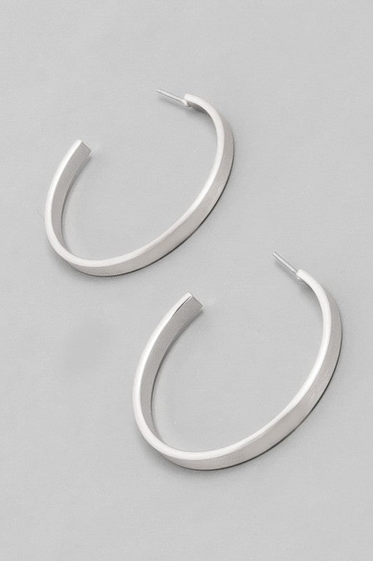 Open Hoop Earrings - Silver