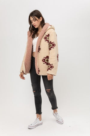 Reversible Aztec Sherpa Jacket