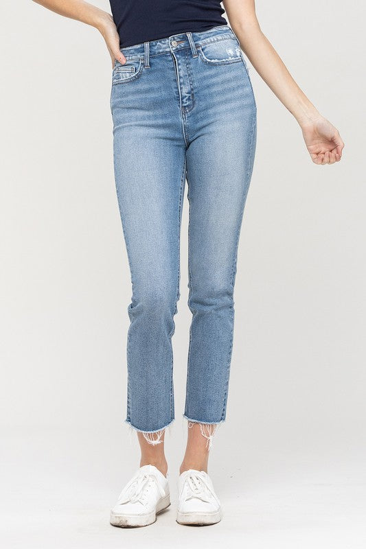 Jessica's Essential Slim Crop Straight Denim