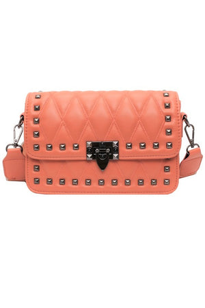 Stud Point Shoulder Bag - Peachy Orange