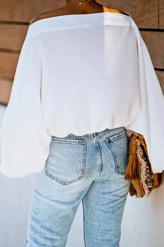 Wide Neck Blouse