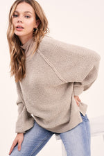 Textured Go To Pullover - Grey Taupe
