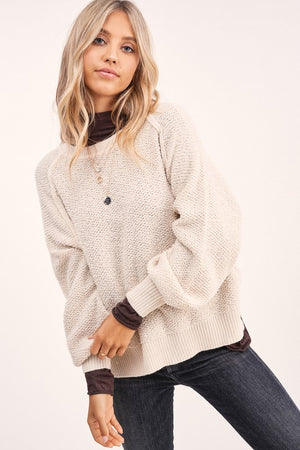 Textured Go To Pullover - Natural