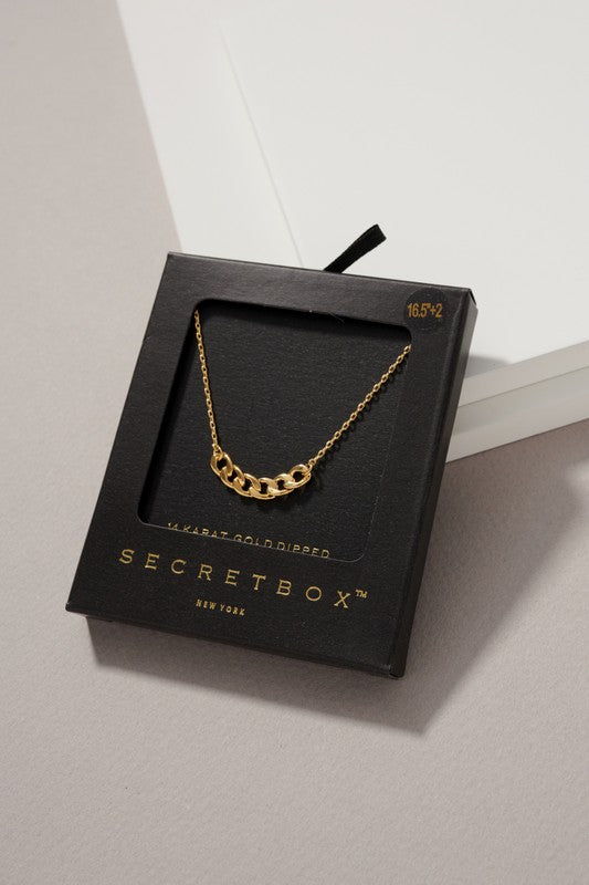 Gold Dainty Chain Link Necklace