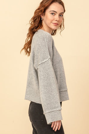 Gorgeous In Gray Pullover Sweater
