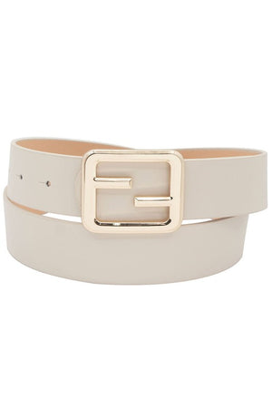 Designer Inspired Bar buckle belt - Bone