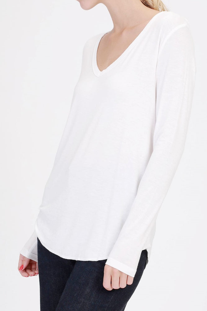 V-Neck Long Sleeve Top - Sweetly Striped