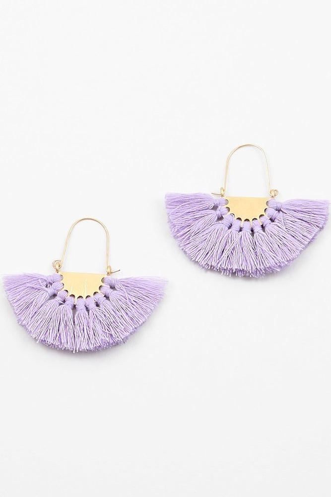 Mini Tahiti Tassel Earrings - Sweetly Striped