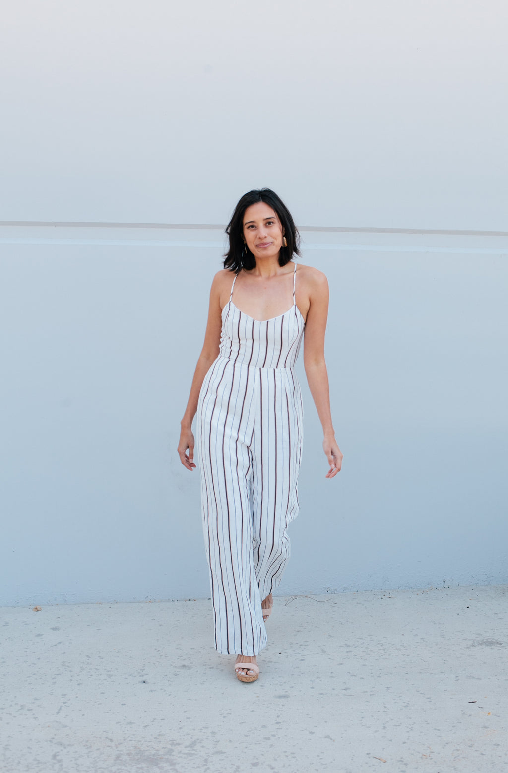 Striped Jumpsuit - Sweetly Striped