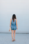 Chambray Romper - Sweetly Striped