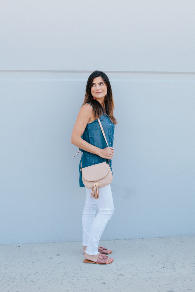 Rounded Crossbody - Sweetly Striped