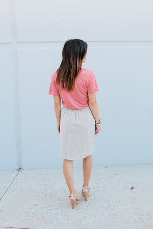 Striped Pencil Skirt - Sweetly Striped