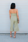 Twist Front Jumpsuit - Sweetly Striped