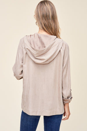 Hooded Everyday Jacket - Taupe