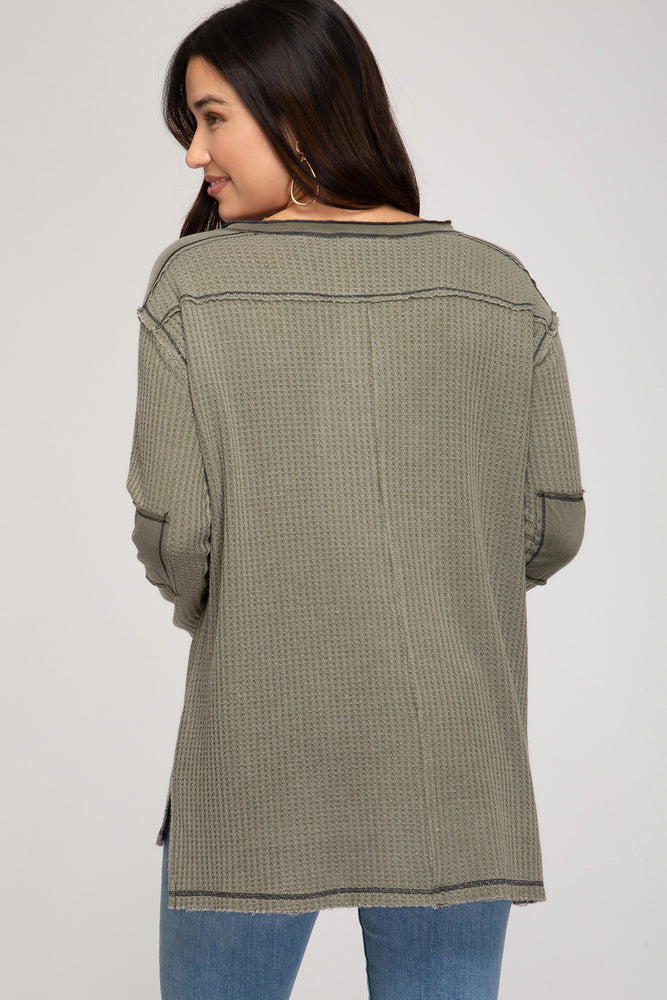 Everyday Style Thermal Top - Olive