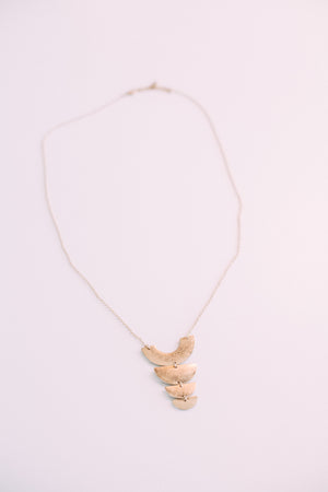 Long Geometric Statement Necklace - Sweetly Striped