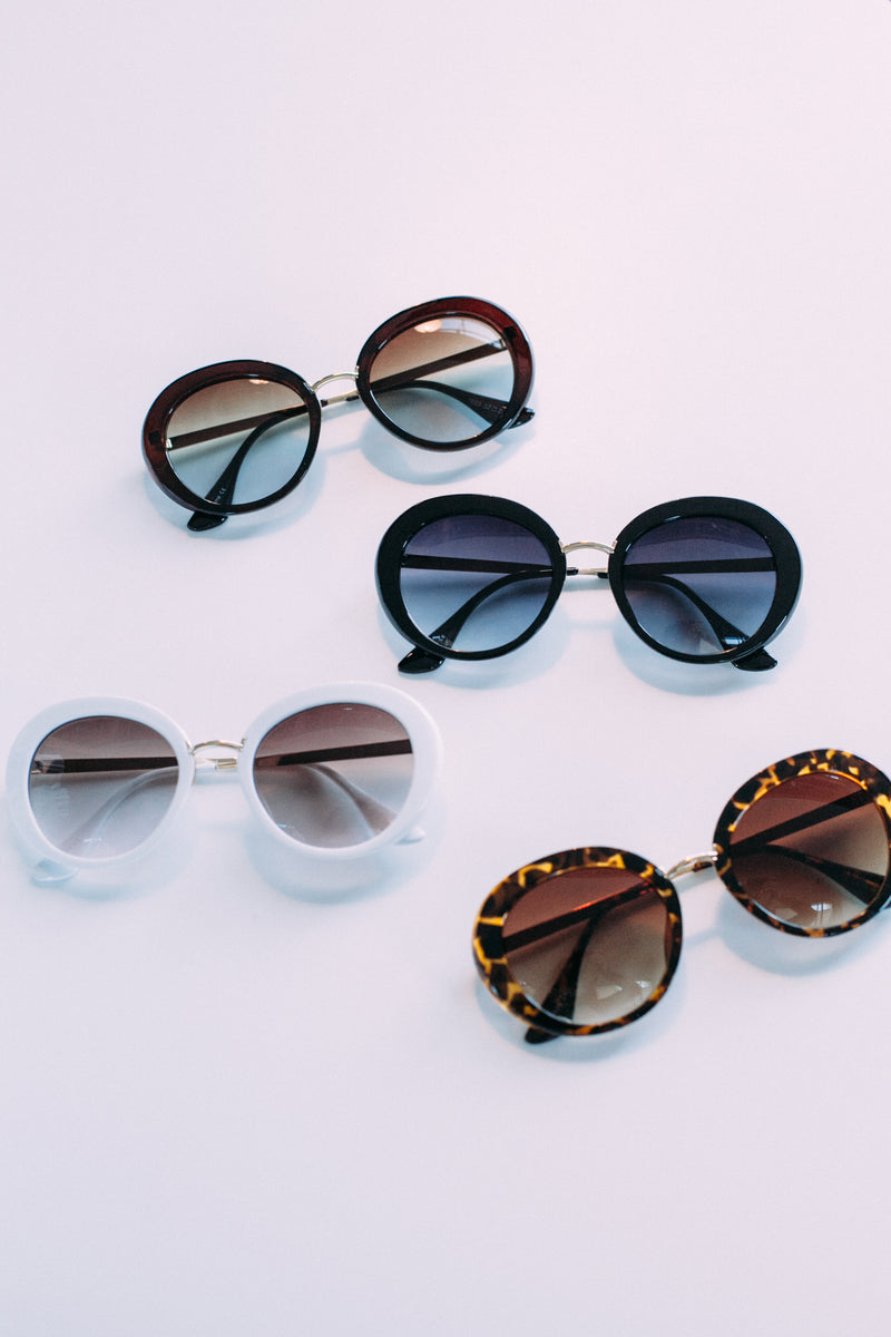 Oval Sunglasses - Sweetly Striped