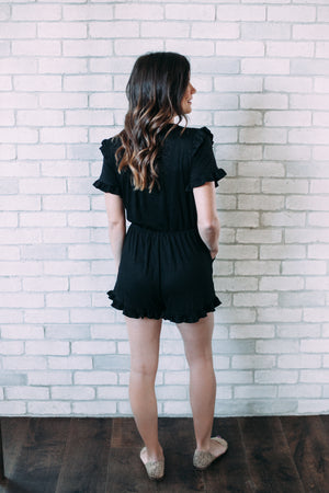 Ruffled Romper - Sweetly Striped