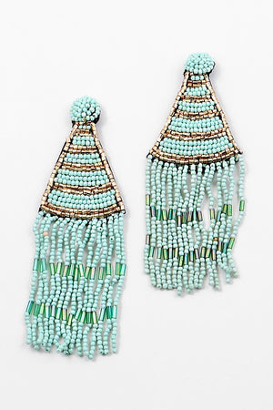 Carly's Beaded Earrings - Sweetly Striped