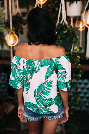 Palm Tree Tie Top - Sweetly Striped