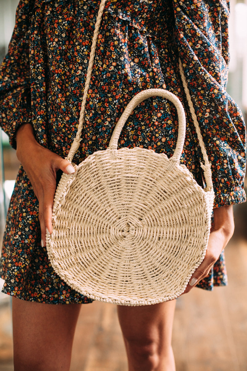 Beachy Woven Crossbody - Sweetly Striped