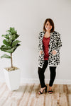 Leopard Print Cardigan - Sweetly Striped