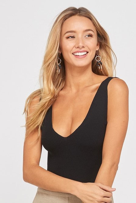 Black Bodysuit - Sweetly Striped