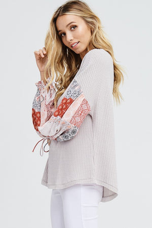 Patchwork Knit Top - Sweetly Striped