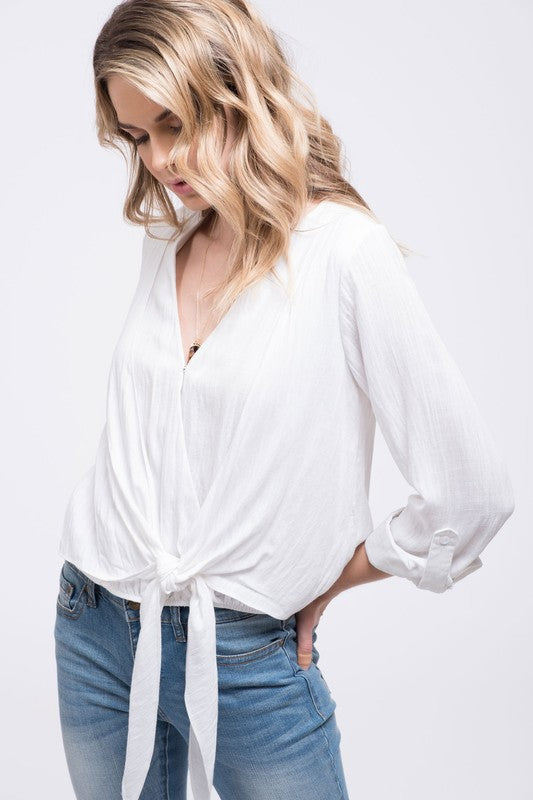 Beachside Knotted Blouse - Sweetly Striped