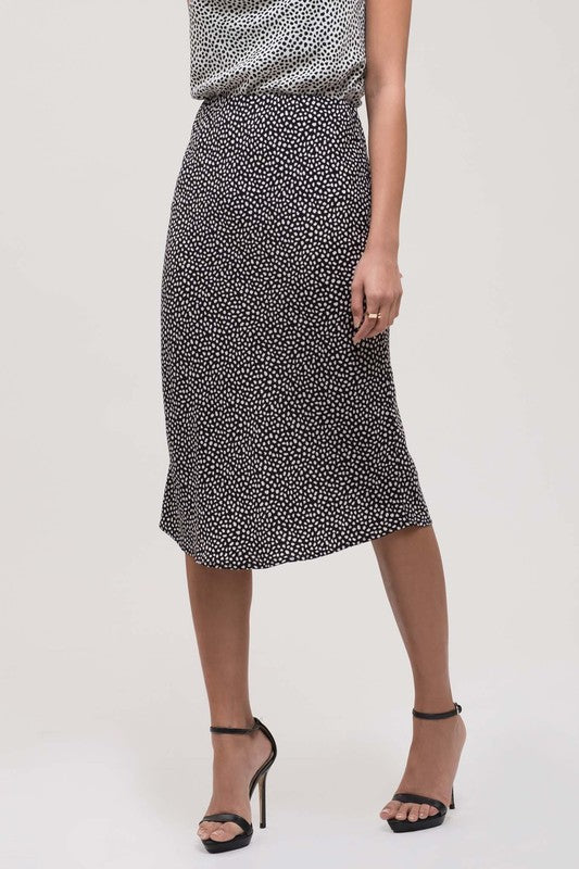 Modern Polka Dot Pencil Skirt - Sweetly Striped