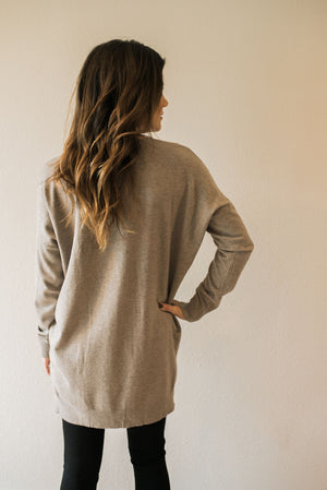Laid Back Sweater Top - Mocha - Sweetly Striped