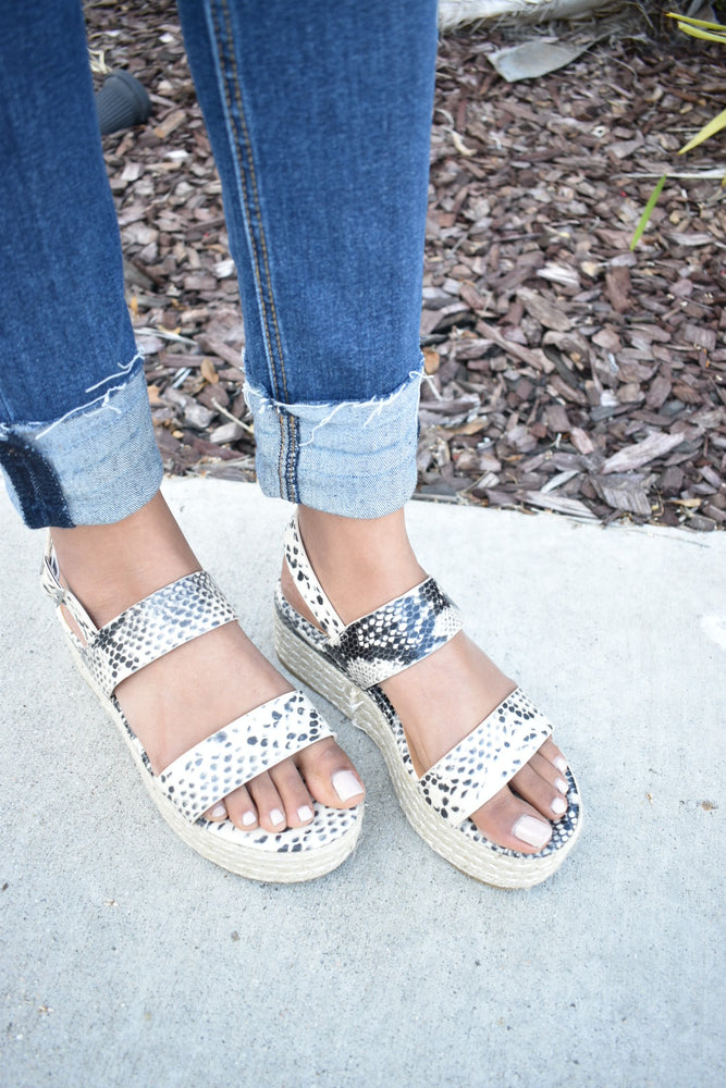 Snakeskin Espadrille - Sweetly Striped