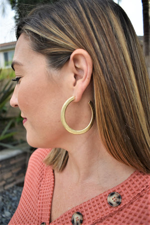 Antique Gold Hoops