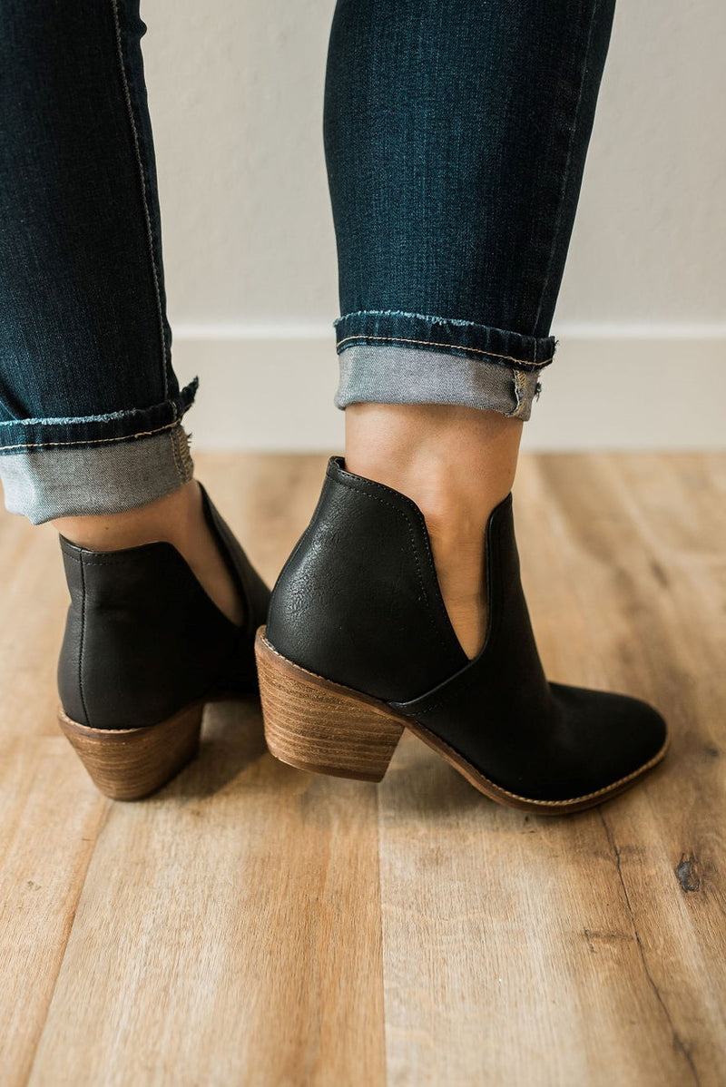 Chic Side Slit Booties - Sweetly Striped