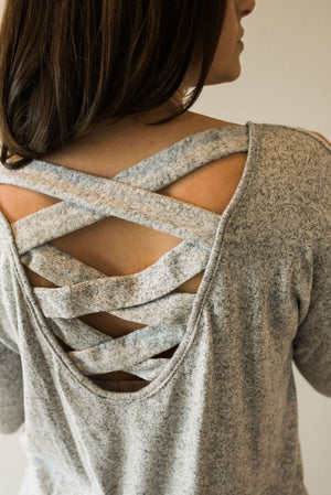 Cozy Criss Cross Top - Sweetly Striped
