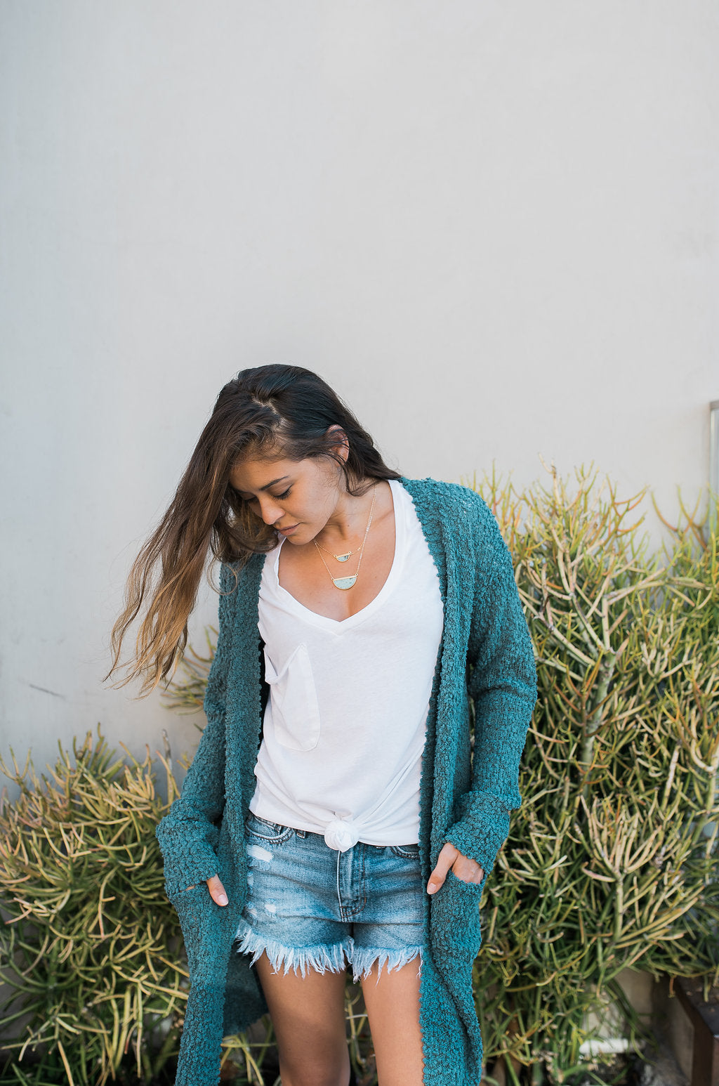 Emerald Open Front Cardigan - Sweetly Striped