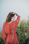 Red Kimono Romper - Sweetly Striped