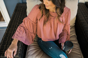 Off the Shoulder Blouse - Sweetly Striped