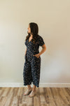 Navy Floral Jumpsuit - Sweetly Striped